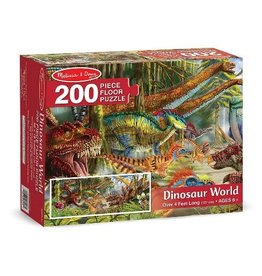 Melissa & Doug Floor Puzzle - Dinosaur World - 200 Piece