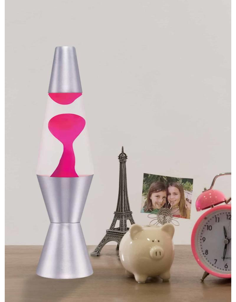 Schylling Toys Lava Lamp - Pink Lava/ Clear Liquid/ Silver Base- 11.5''