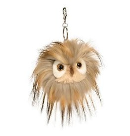 Douglas Plush Fur Fuzzles Pom Clip-Ons - Owl