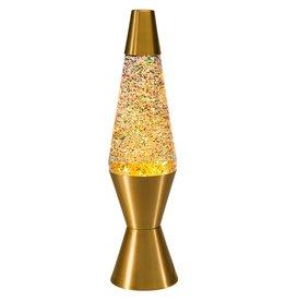 "Schylling Toys Lava Lamp - Gold / Rainbow Glitter - 14.5"""