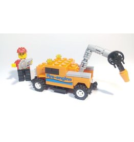 Wange Mini Transportation Egg - Orange Fire Truck