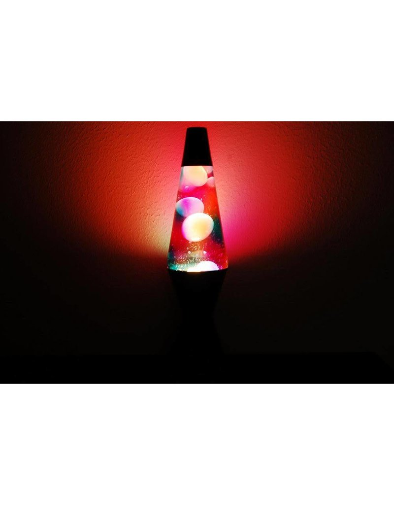 Lava Lite Lava Lamp - Graffiti - White Lava / Clear Liquid / Black Base - 14.5""