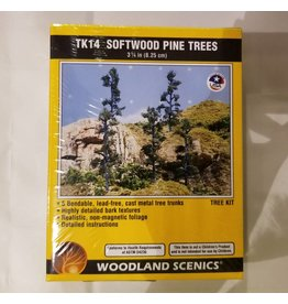 "Walthers Small Tree Kits - Pine - Softwood Pines 3-1/4"" 8.1cm Tall"