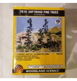 "Woodland Scenics Small Tree Kits - Pine - Softwood Pines 3-1/4"" 8.1cm Tall"