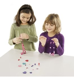 Melissa & Doug Craft Kit Created by Me! Heart Beads (120 Pieces)