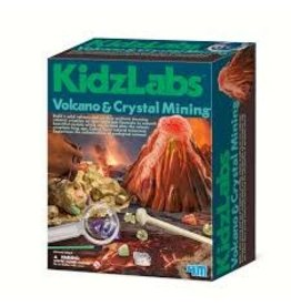 4M KidzLabs Volcano & Crystal Mining Kit