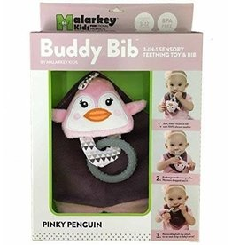 Malarkey Kids Pinky Penguin Buddy Bib
