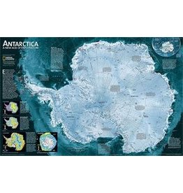 National Geographic Antarctica Satellite [Laminated]