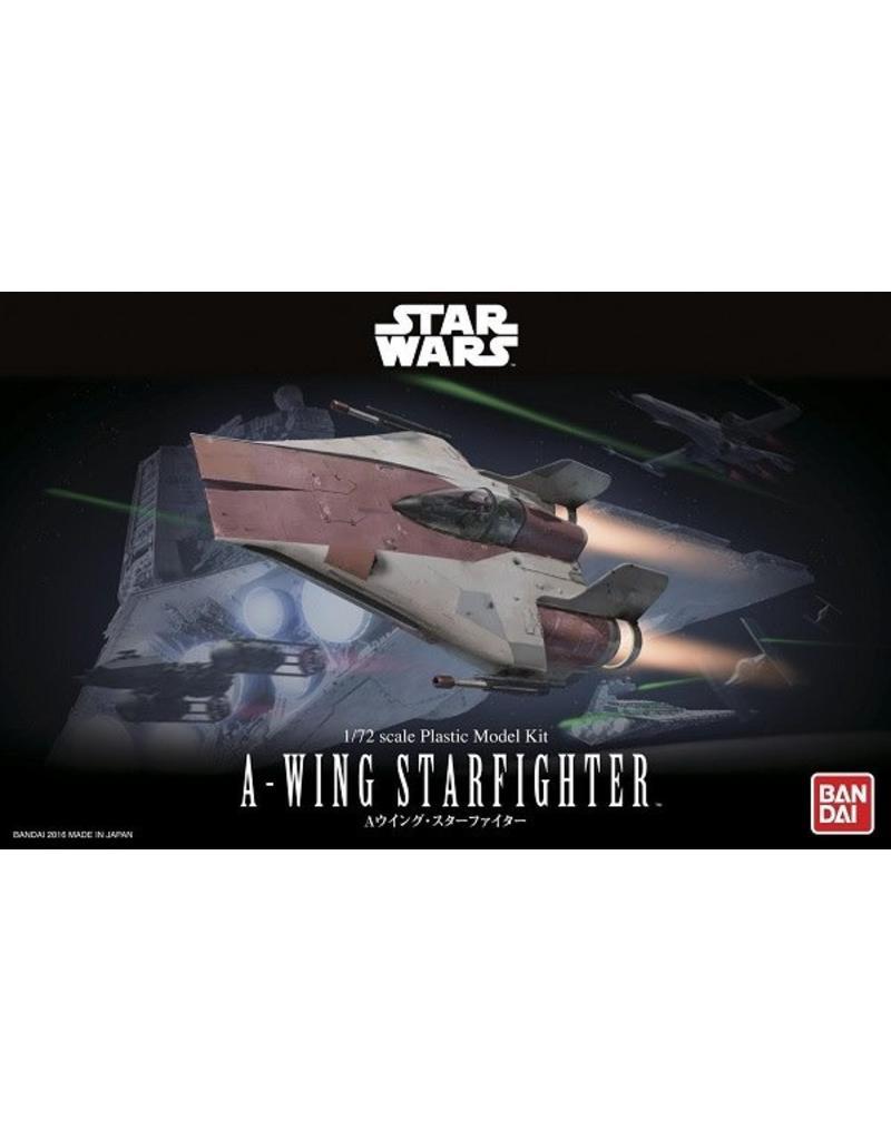 Bandai Hobby Ban Dai Model - Star Wars - 1/72 A-Wing Starfighter Set Kit