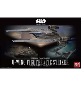 Bandai Hobby Bandai Model - Star Wars - U-Wing Fighter & Tie Striker 1:144 Scale Plastic Model Kit