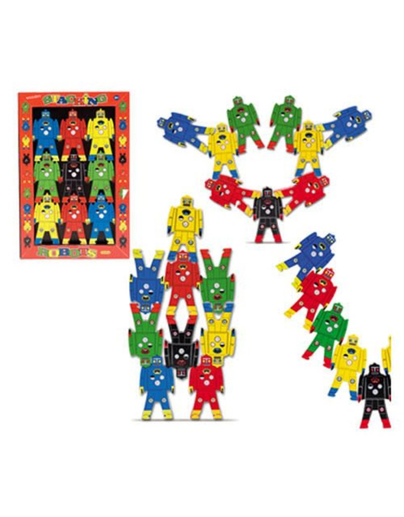Schylling Toys Wooden Stacking Robots