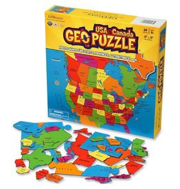 Geo Toys GeoPuzzle - USA and Canada - 69 Piece