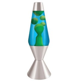 Schylling Toys Lava Lamp -  Classic - Yellow Lava/Blue Liquid/Silver Base - 16.3""