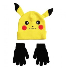 Bioworld Pikachu Hat & Gloves (yellow)