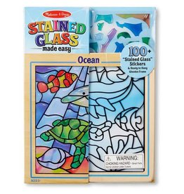 Melissa & Doug Craft Kit Stained Glass Made Easy - Ocean