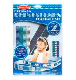 Melissa & Doug Press-On Rhinestones Headband Set
