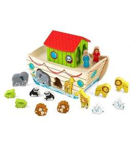 Melissa & Doug Wooden Noah's Ark Play Set