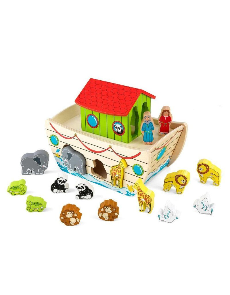 Melissa & Doug Wooden Noah's Ark Play Set