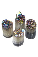 GeoCentral Rainbow Aura Crystal Cylinders (sold individually)