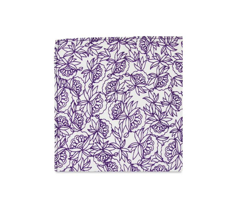 The Tristan Floral Pocket Square
