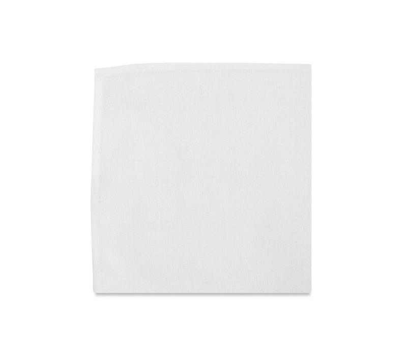 The Ellington White Cotton Pocket Square