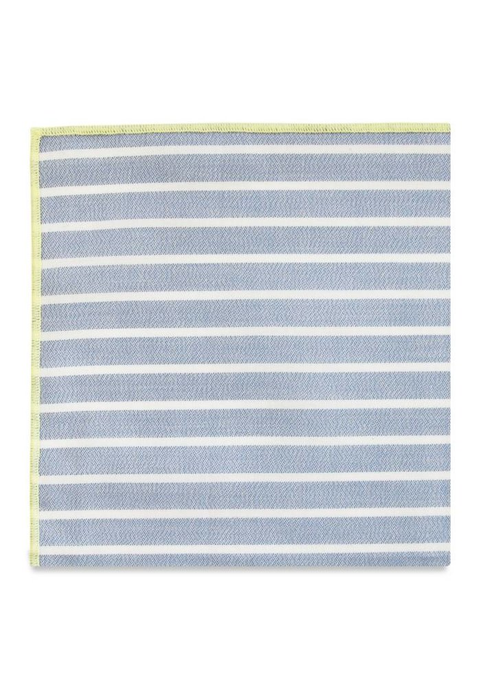 The Santiago Stripe Merrow Pocket Square