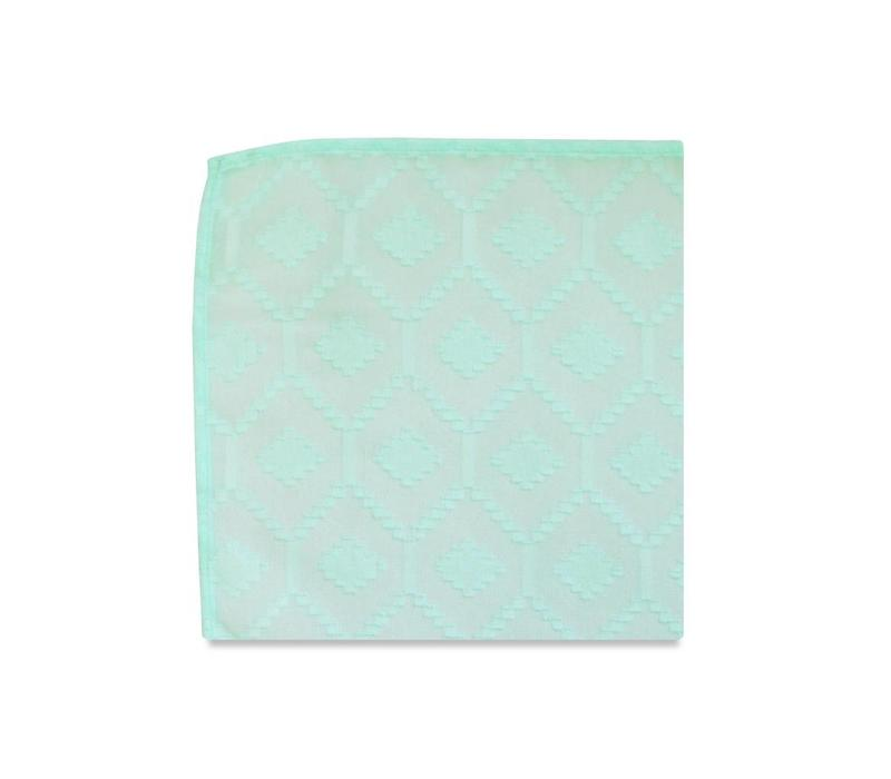 The Dahlia Mint Pocket Square