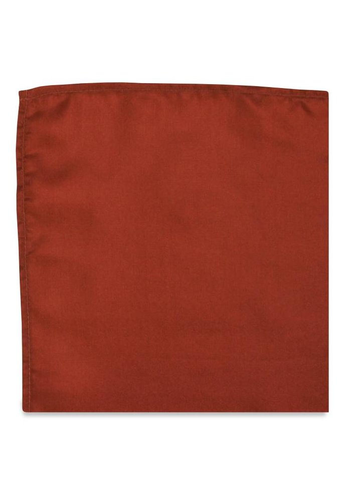 The Hollyhock Burnt Red Pocket Square