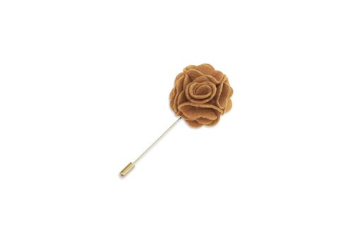 Pocket Square Clothing Mustard Floral Lapel Pin