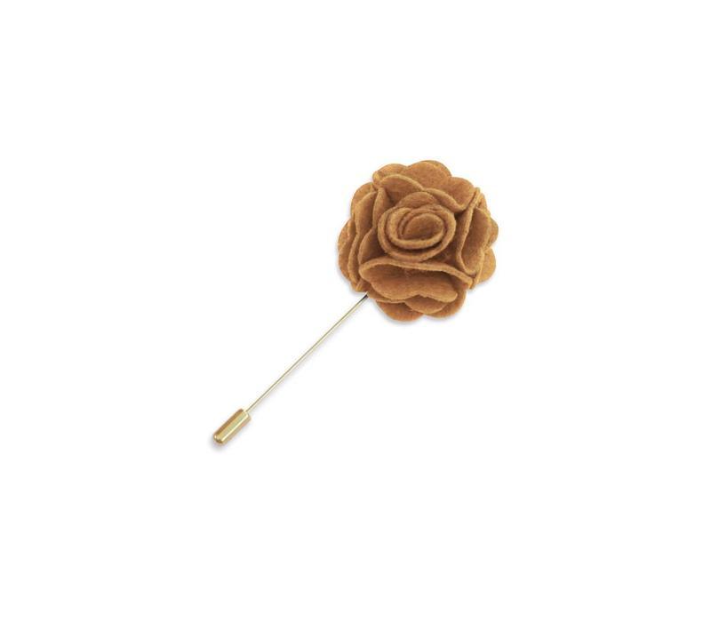 Mustard Floral Lapel Pin