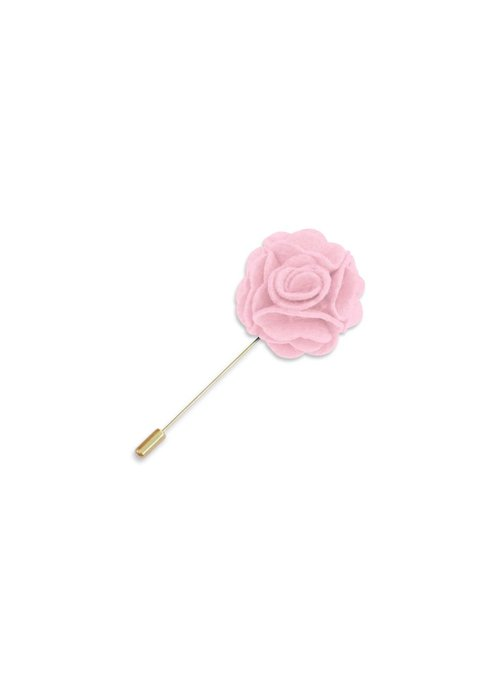 Pocket Square Clothing Light Pink Floral Lapel Pin