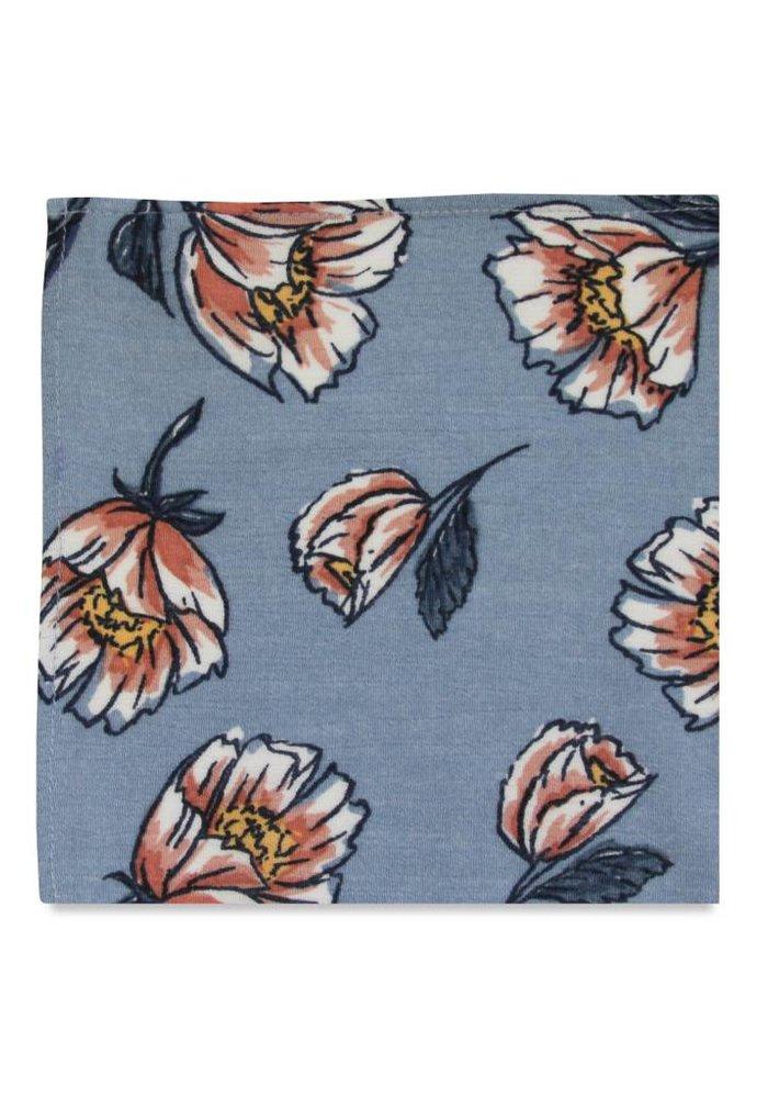 The Celestine Blue Floral Pocket Square