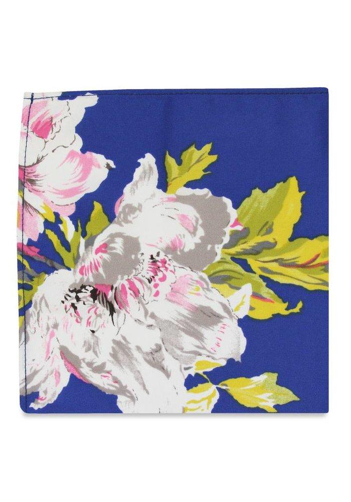 The Clarissa Blue Floral Pocket Square