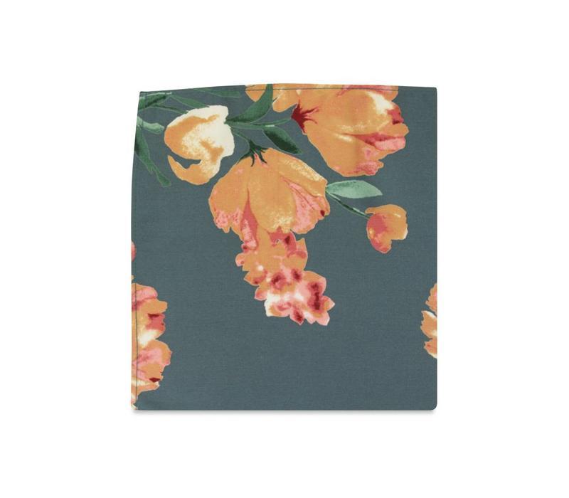 The Daniella Ash Blue Floral Pocket Square