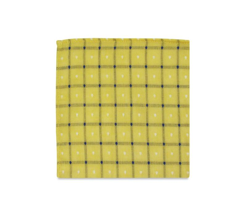 The Emeril Yellow Check Pocket Square
