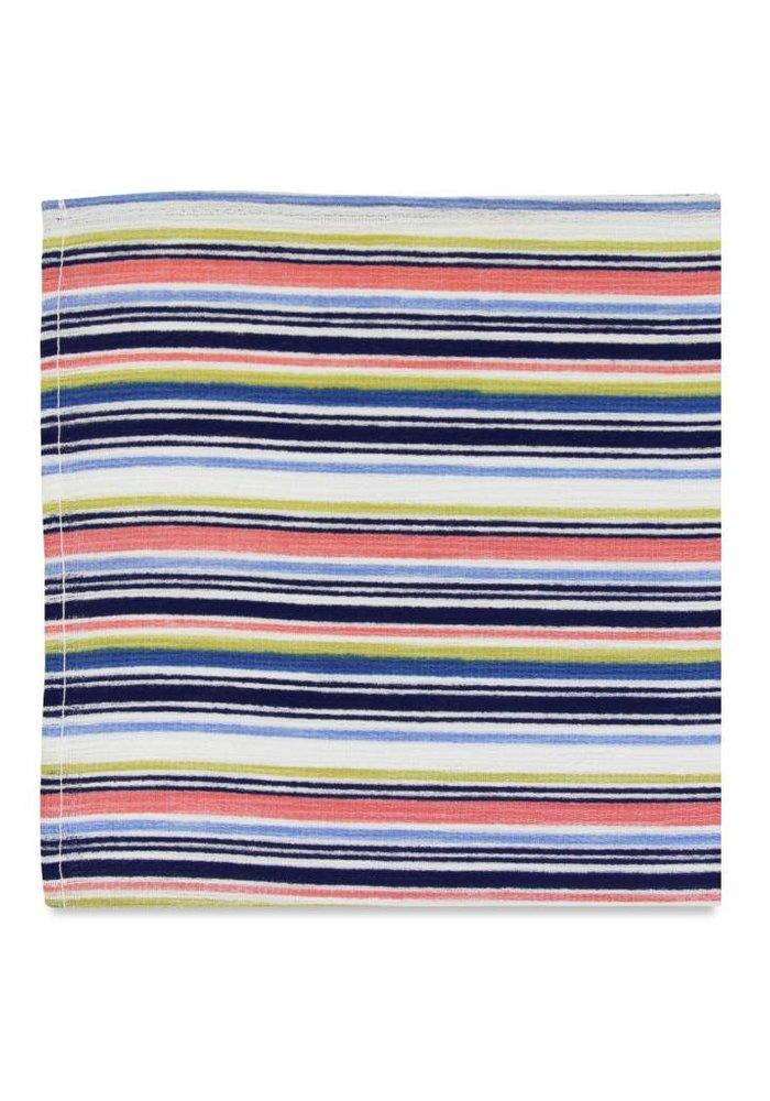The Gianna Retro Striped Pocket Square