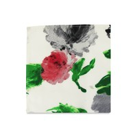 The Matilda White Floral Pocket Square