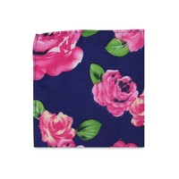The Miranda Blue Floral Pocket Square