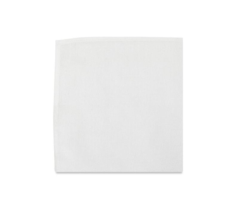 The Sinclair White Silk Pocket Square