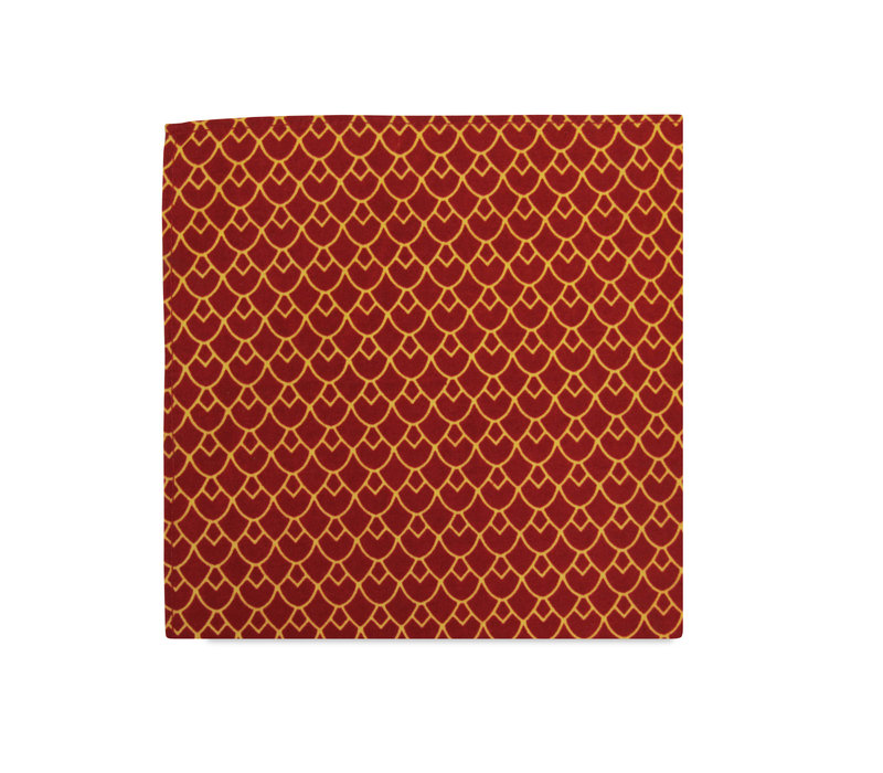 The Annika Red Tribal Pocket Square