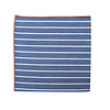 Pocket Square Clothing The Ben Blue Striped Merrowed Pocket Square