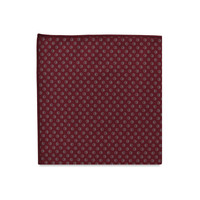 The Ethan Maroon Polka Dot Pocket Square