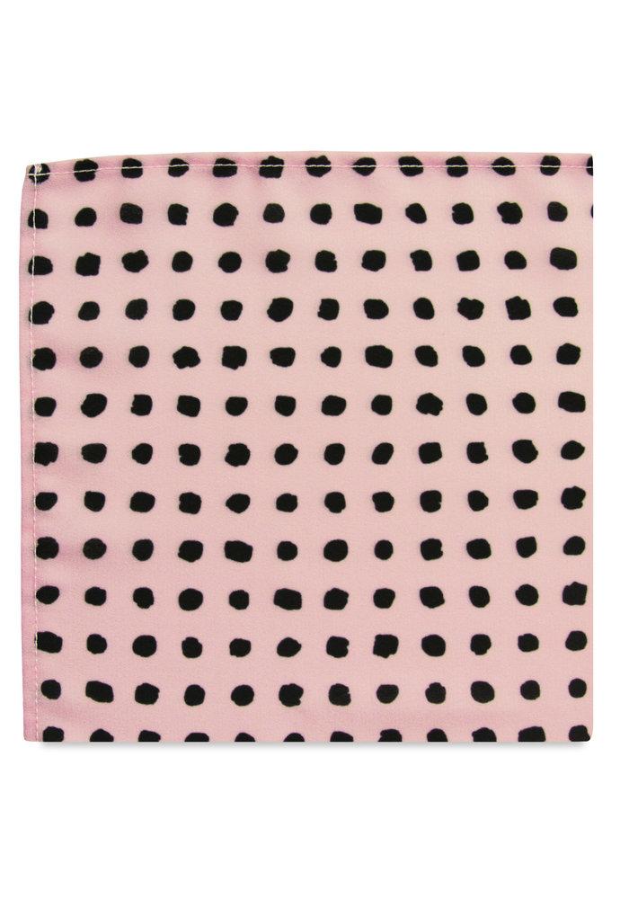 The Kate Blush Pink Polka Dot Pocket Square