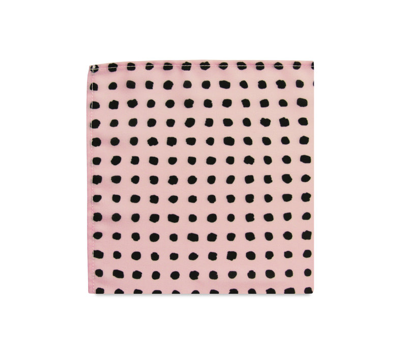 The Kate Blush Pink Polka Dot Pocket Square