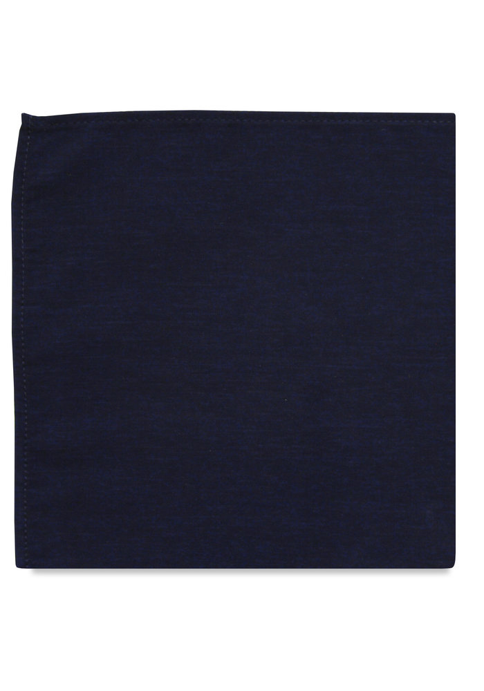 The Nate Midnight Blue Pocket Square