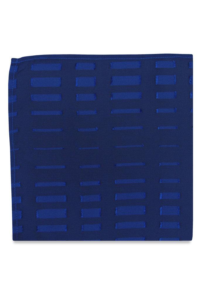 The Max Blue Geometric Pocket Square