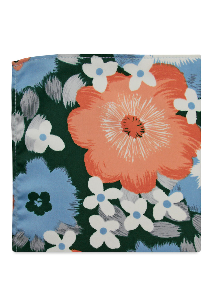 The Josie Green Floal Pocket Square