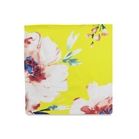 The Kacey Yellow Floral Pocket Square