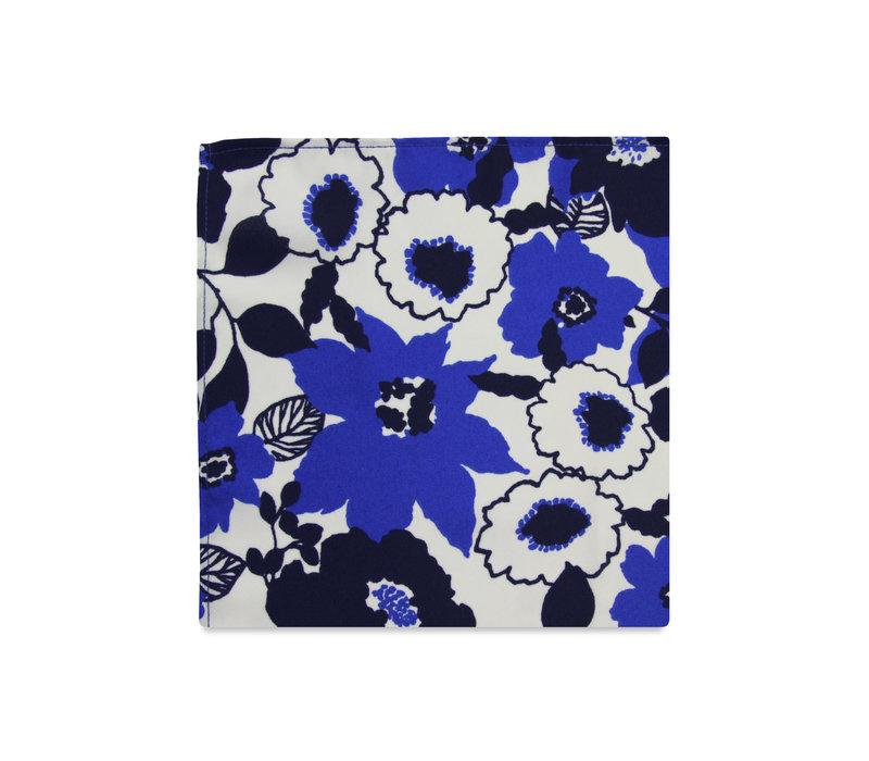 The Naya Blue Floral Pocket Square