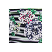 The Nadine Striped Floral Pocket Square